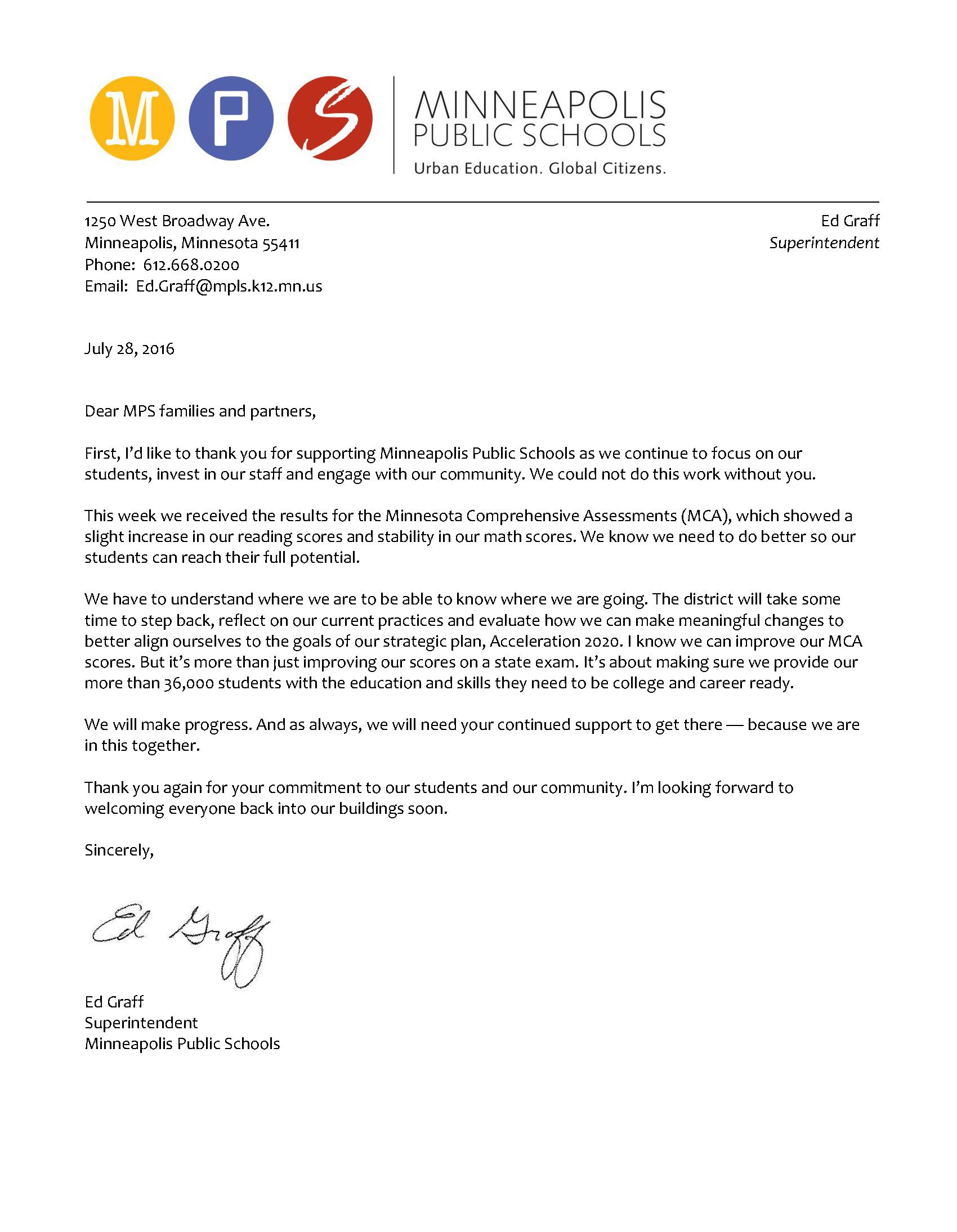 letter to the community on mca results letter to public regarding mca results jpg