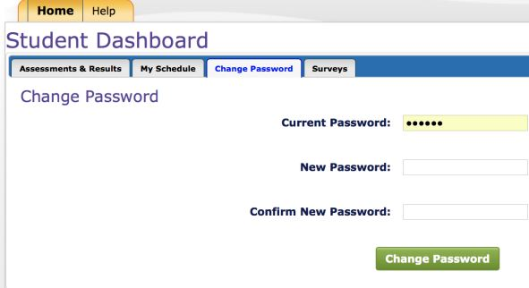 image of student portal login screen