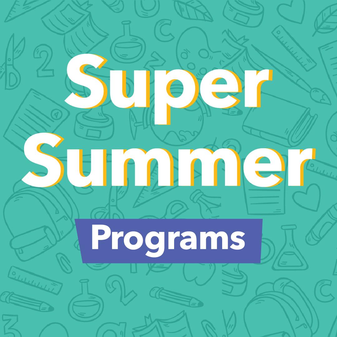 Super Summer Programs logo with same text